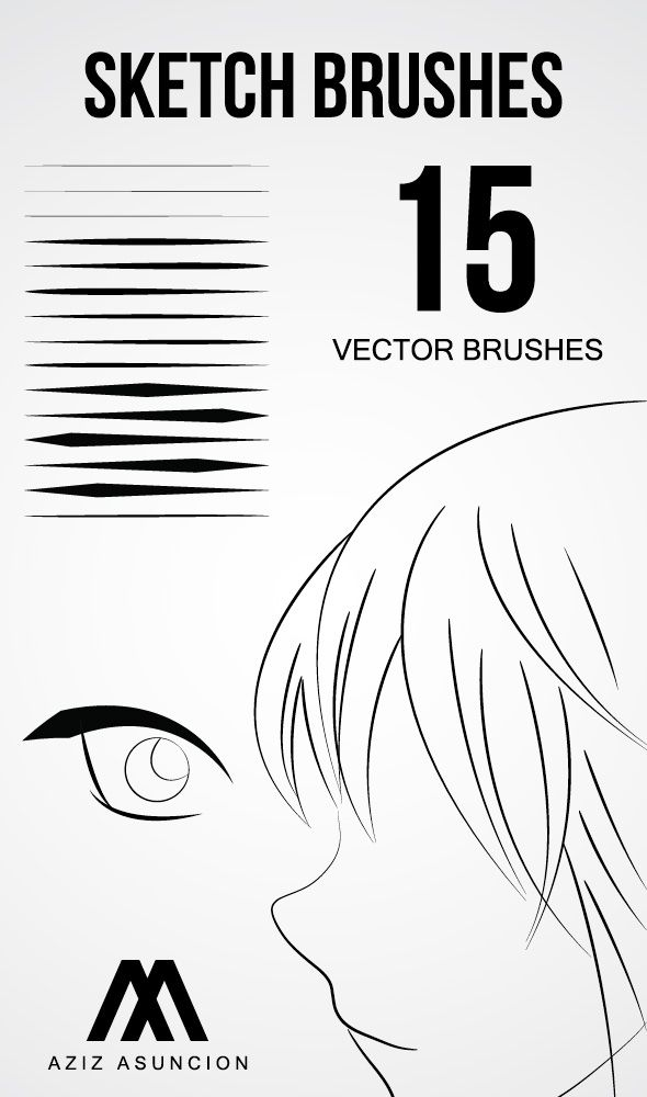 Sketch Brushes by A-GraphicDesigner.deviantart.com on