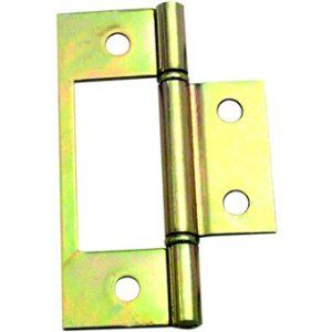 Bifold Door Hinge By No Manufacturer. $1.69. Gold Colored Hinge Has Cut Out  To