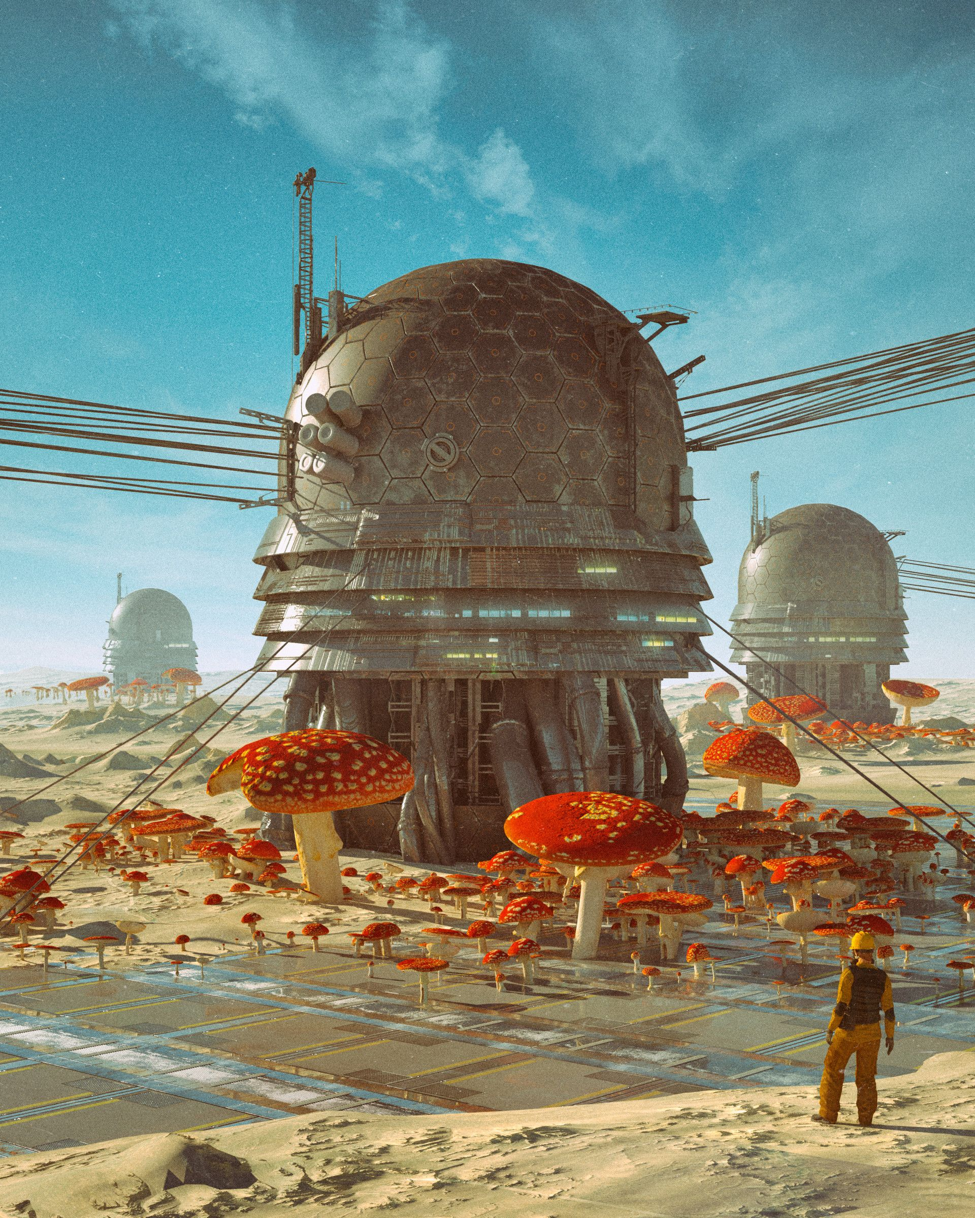 ArtStation - MUSHROOM GENERATOR , beeple   | World Building