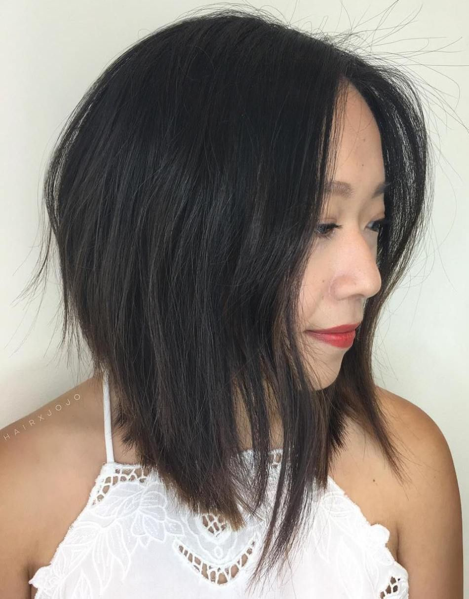 Asian Inverted Bob Straight Bob Hairstyles Long Bob Haircuts Long Bob Hairstyles