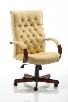 Chesterfield Cream Leather Office Chair Best Office Chair Home