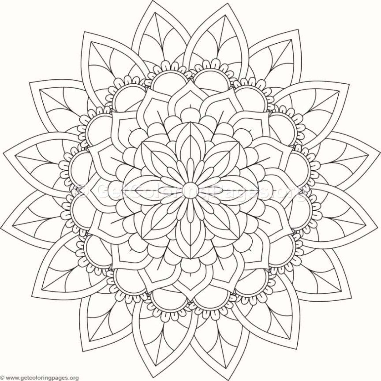 Tribal Mandala Coloring Pages 385