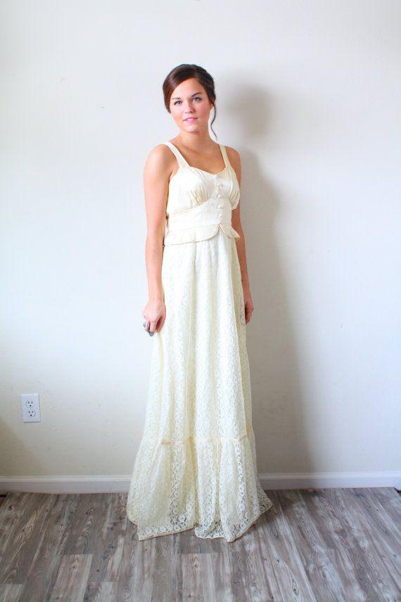 30 Off Summer Sale Vintage Wedding Dress By Beigevintageco Wedding Dresses Vintage Wedding Dresses Dresses