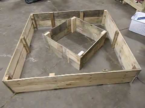 recycled wooden pallet raised bed garden