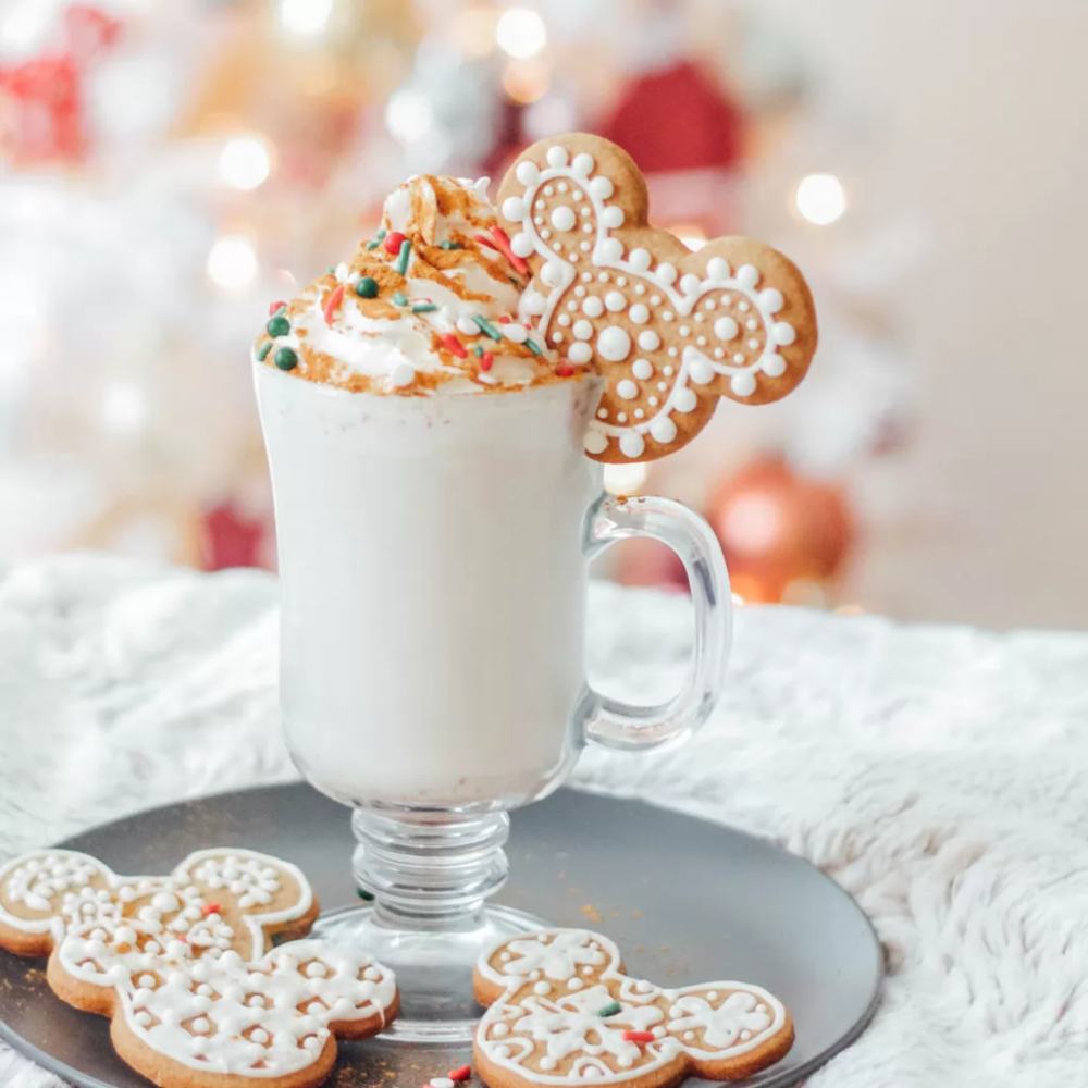Disney Tom Jerry Christmas Drink 2020 Mickey Gingerbread Cookies & White Hot Chocolate   Disney Family