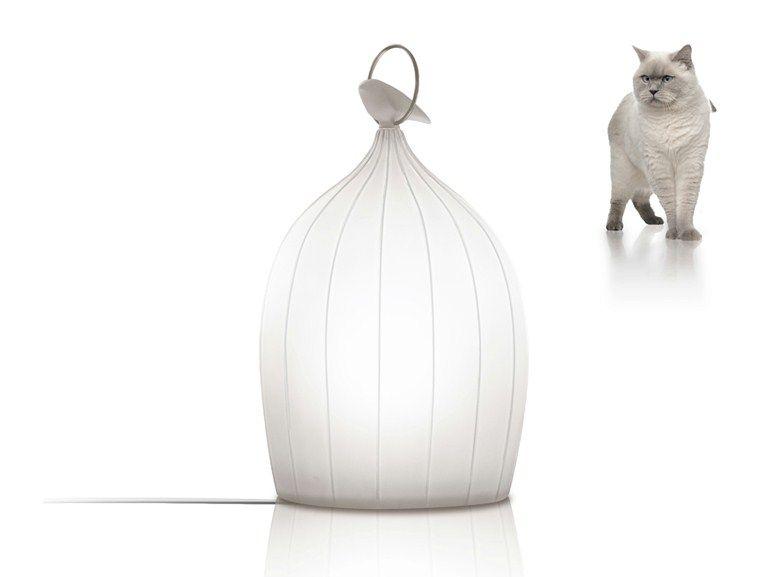 Lampada da terra a LED in polietilene SMOON CAGE NOMAD Collezione Smoon by Beau