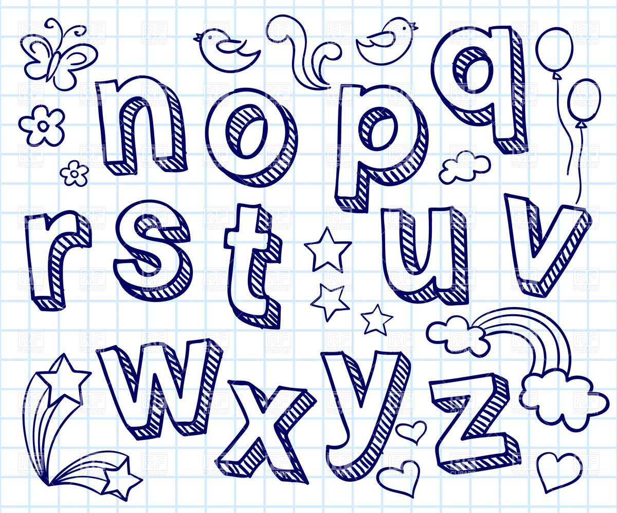 Cool Easy Fonts To Draw By Hand