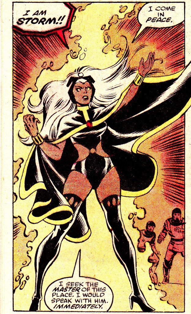 She Knows How To Make An Entrance Storm Marvel Xmen Comics Storm Comic