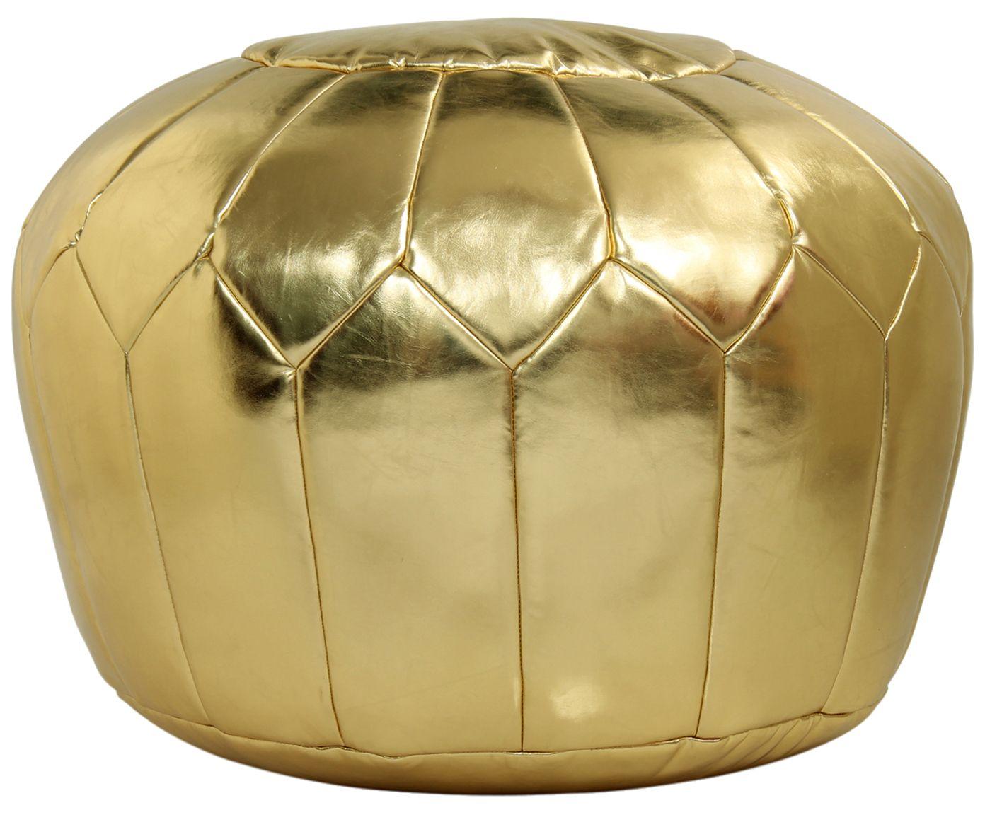 Nice Edles Schmuckst ck Lockern Sie Ihren Wohnbereich mit komfortablen und stylischen Sitzgelegenheiten wie dem goldfarbenen Pouf