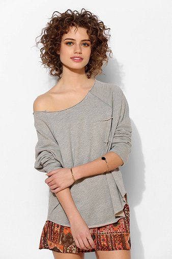 Project Social T Double Layer Slouch Pullover Sweatshirt