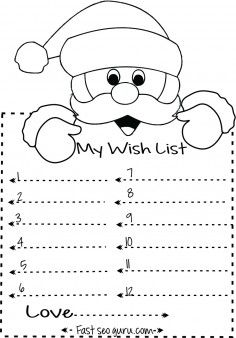 Print Out Christmas Wish List To Santa Write Template Printable Coloring Pages For Kids Kids Christmas List Christmas Letter Template Christmas List Template