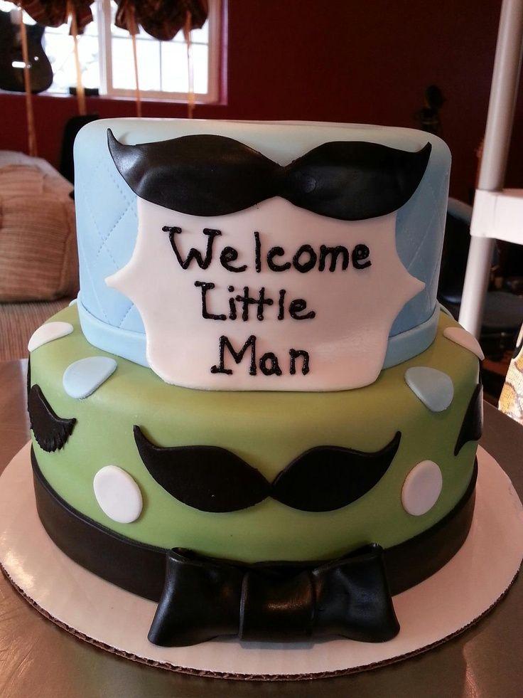 Ad With Mustache Man Birthday Cake