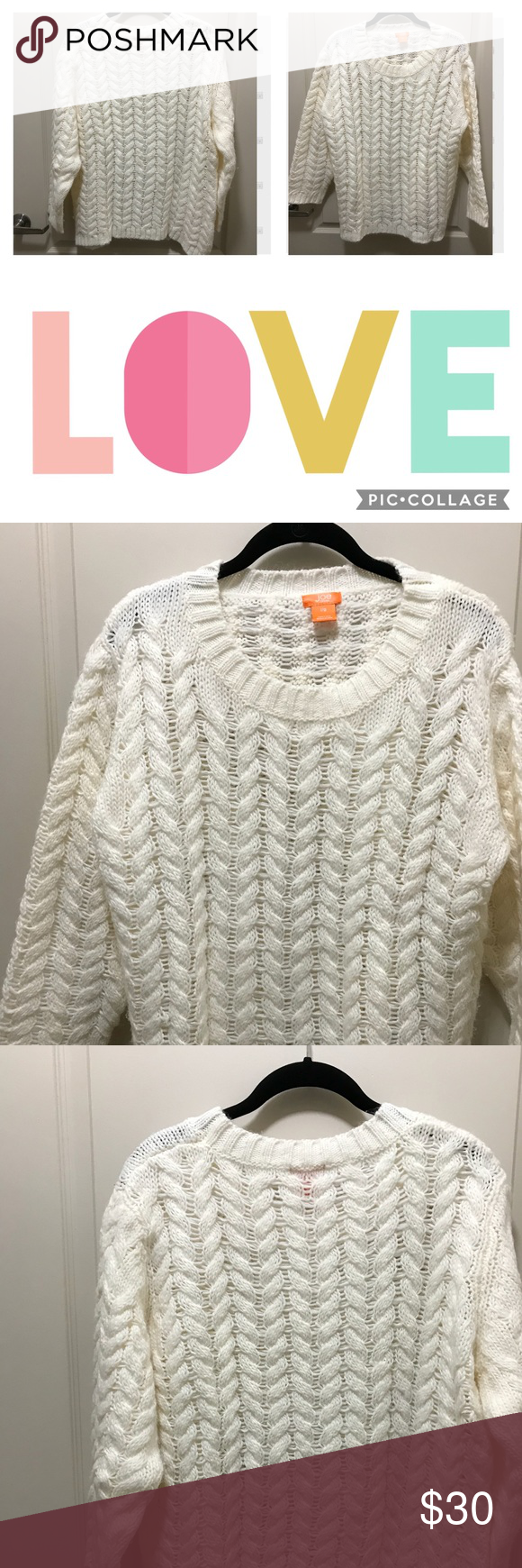 White sweater | White sweaters, Scoop neck and Customer support