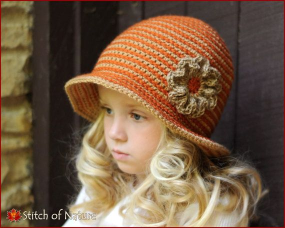 Crochet PATTERN - The Carolina Brimmed Hat with a Jute Twine Flower ...