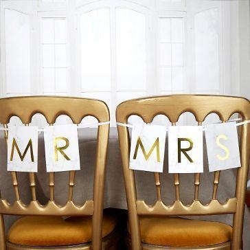 Stuhl Schilder /'Mr /& Mrs/' Holz Candy Bar Hochzeit Vintage Deko