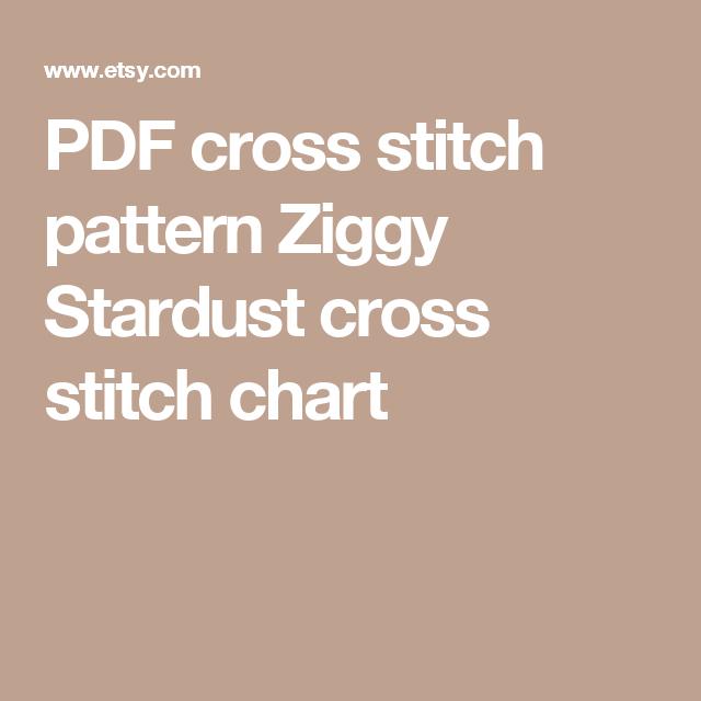 PDF Cross Stitch Pattern Ziggy Stardust Cross Stitch Chart