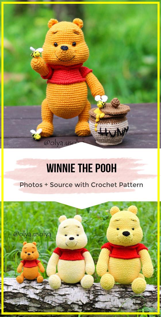crochet Winnie the Pooh easy pattern