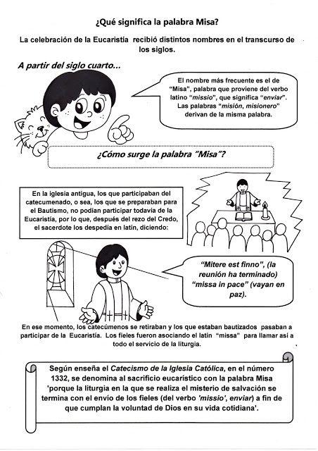 El Rinc 243 N De Las Melli 191 Qu 233 Significa La Palabra Misa Catequesis Eucaristia Catecismo