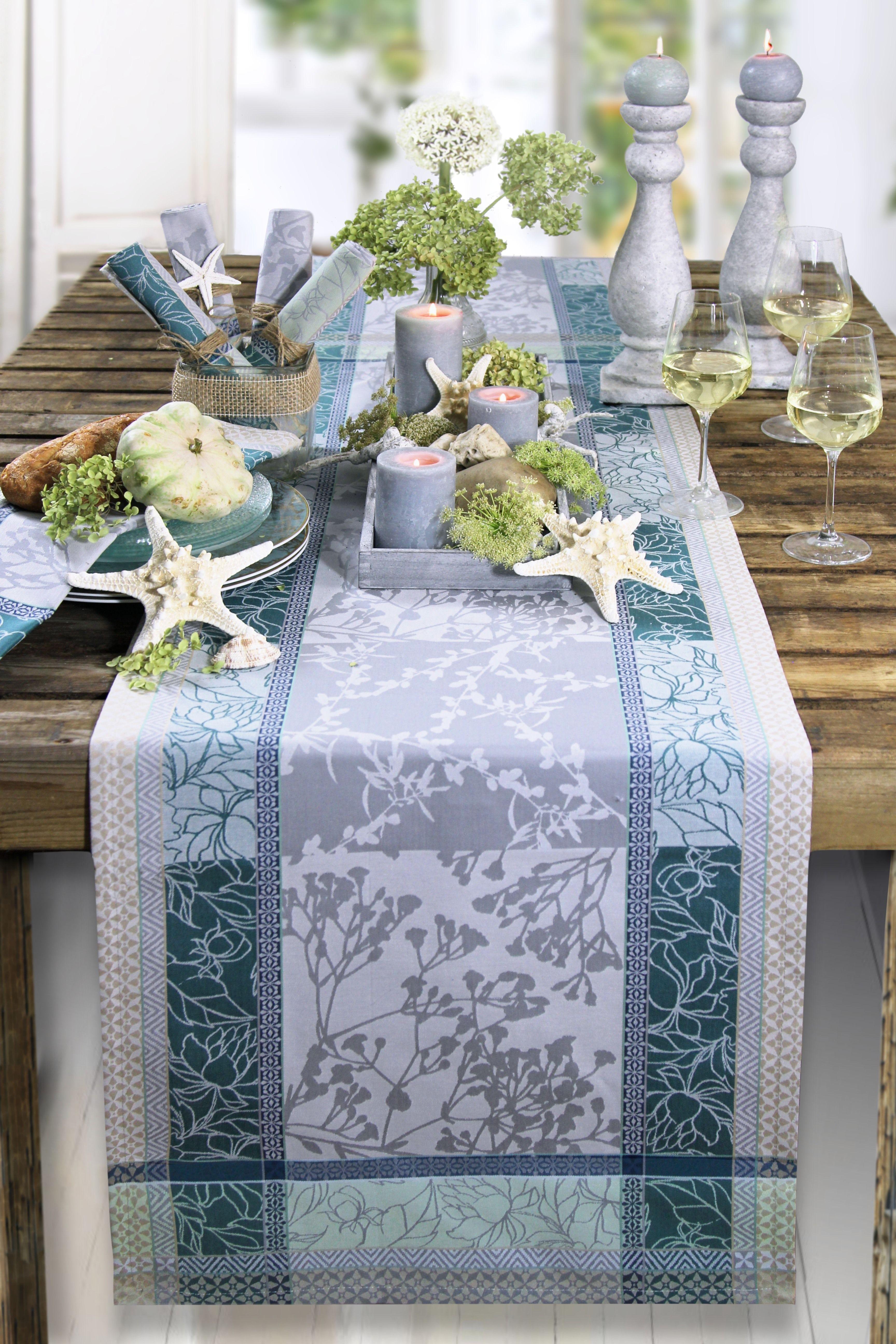 maritimer herbst jacquard tischl ufer von sander tische dekorieren im herbst pinterest. Black Bedroom Furniture Sets. Home Design Ideas