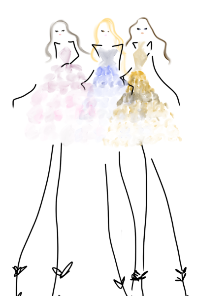 ombre skirts #fashion #bybc #fashionillustration