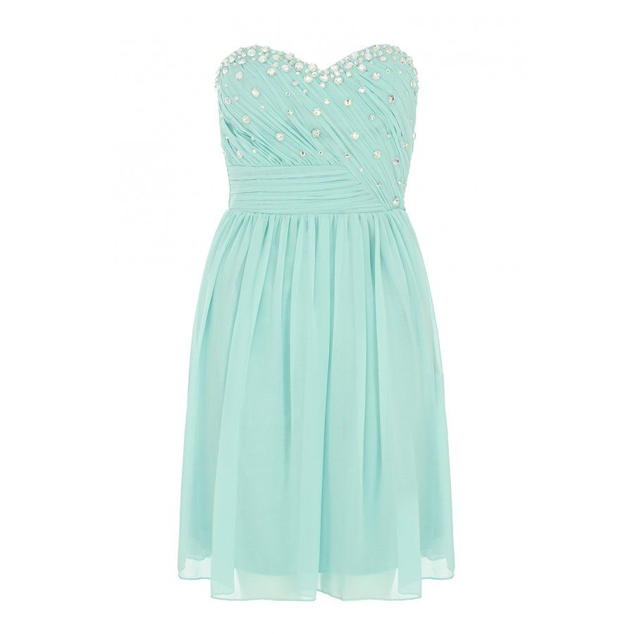 Aqua And Silver Chiffon Prom Dress | Le fashionista | Pinterest ...