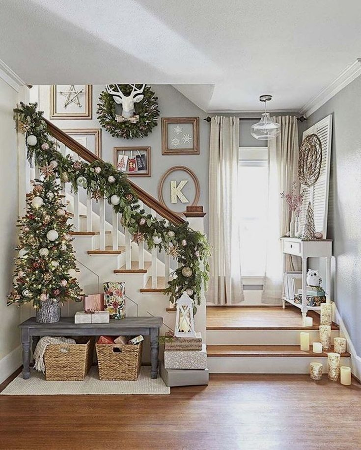stunning christmas decor ideas with farmhouse style for living room trendehouse also best simple images in rh pinterest