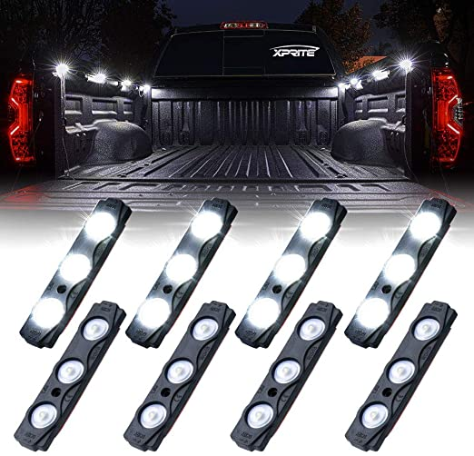 Amazon Com Xprite Led Rock Light For Bed Truck 24 Leds Cargo Truck Pickup Bed Off Road Under Car Foot Wells Rai In 2020 Pickup Trucks Bed Truck Bed Led Rock Light