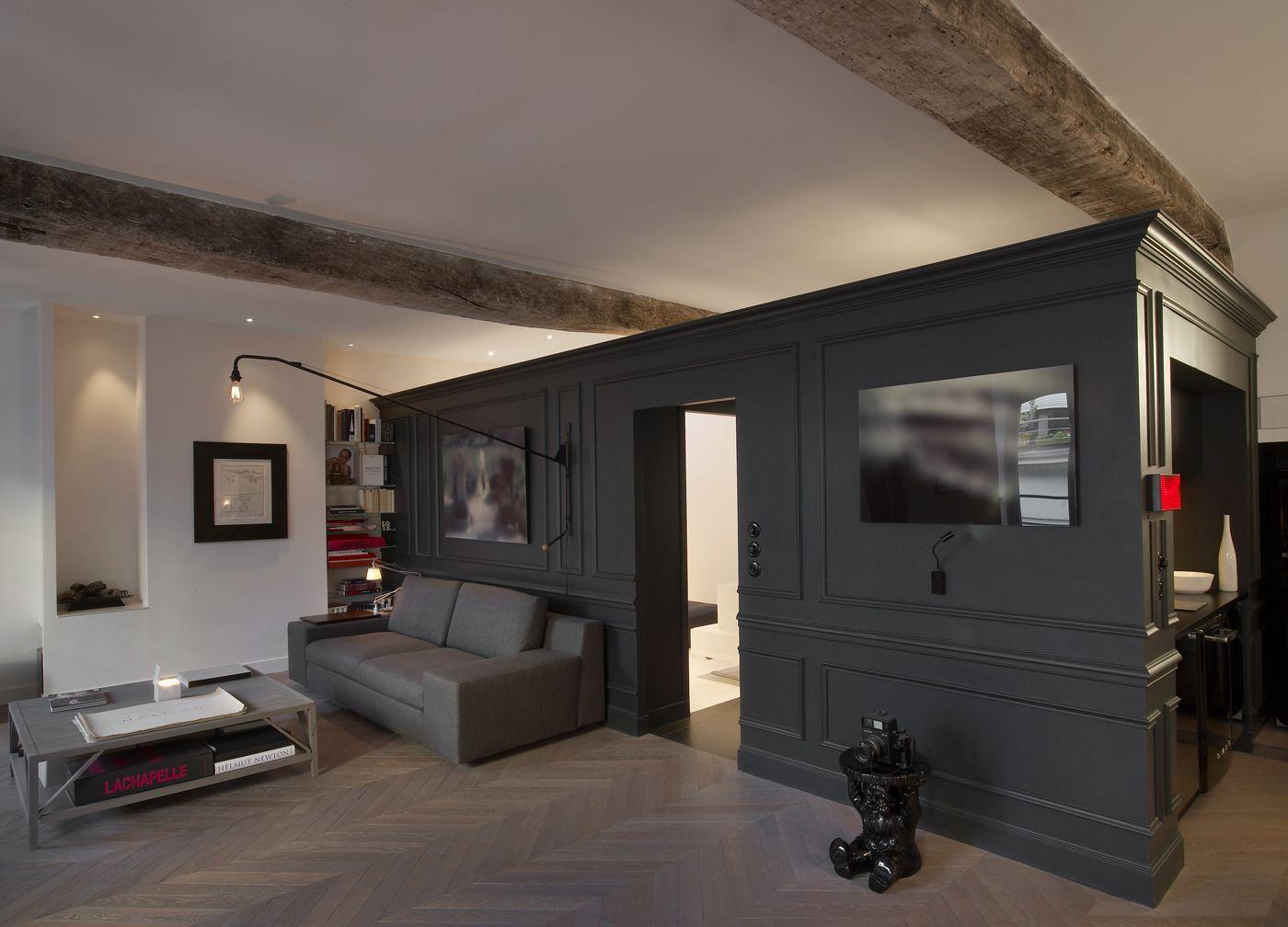 Mansarda di charme a Parigi Living Corriere Design