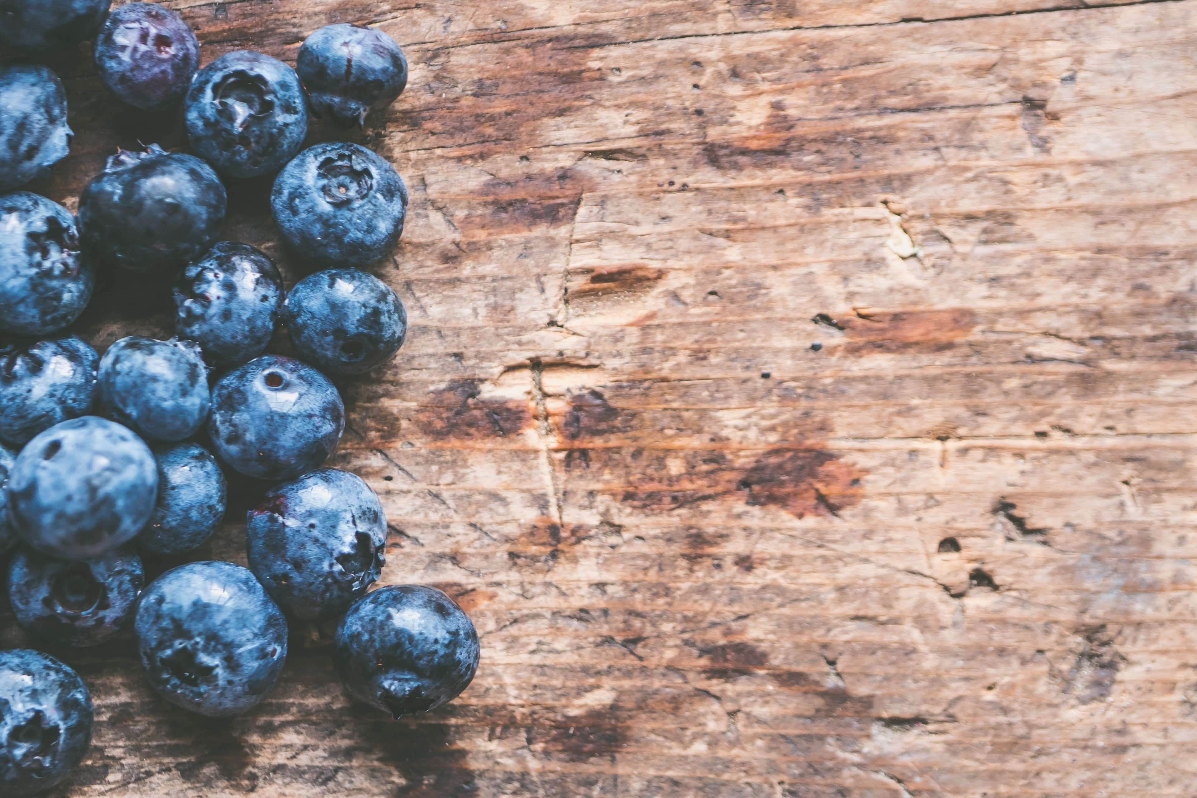 Abstract Background Blueberries Close Up Color Food Fresh