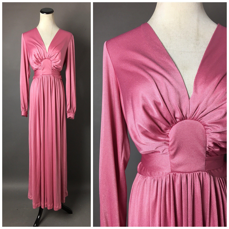 Vintage 70s Dress 1970s Dress Maxi Dress Hippie Dress Etsy Vintage Dress 70s Hostess Dresses Maxi Dress Cocktail [ 3000 x 3000 Pixel ]