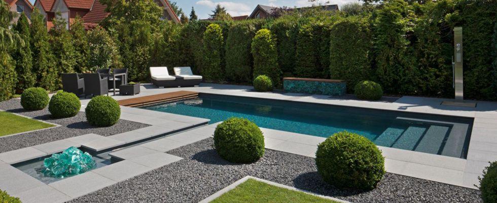 Good swimming pool in modern garden