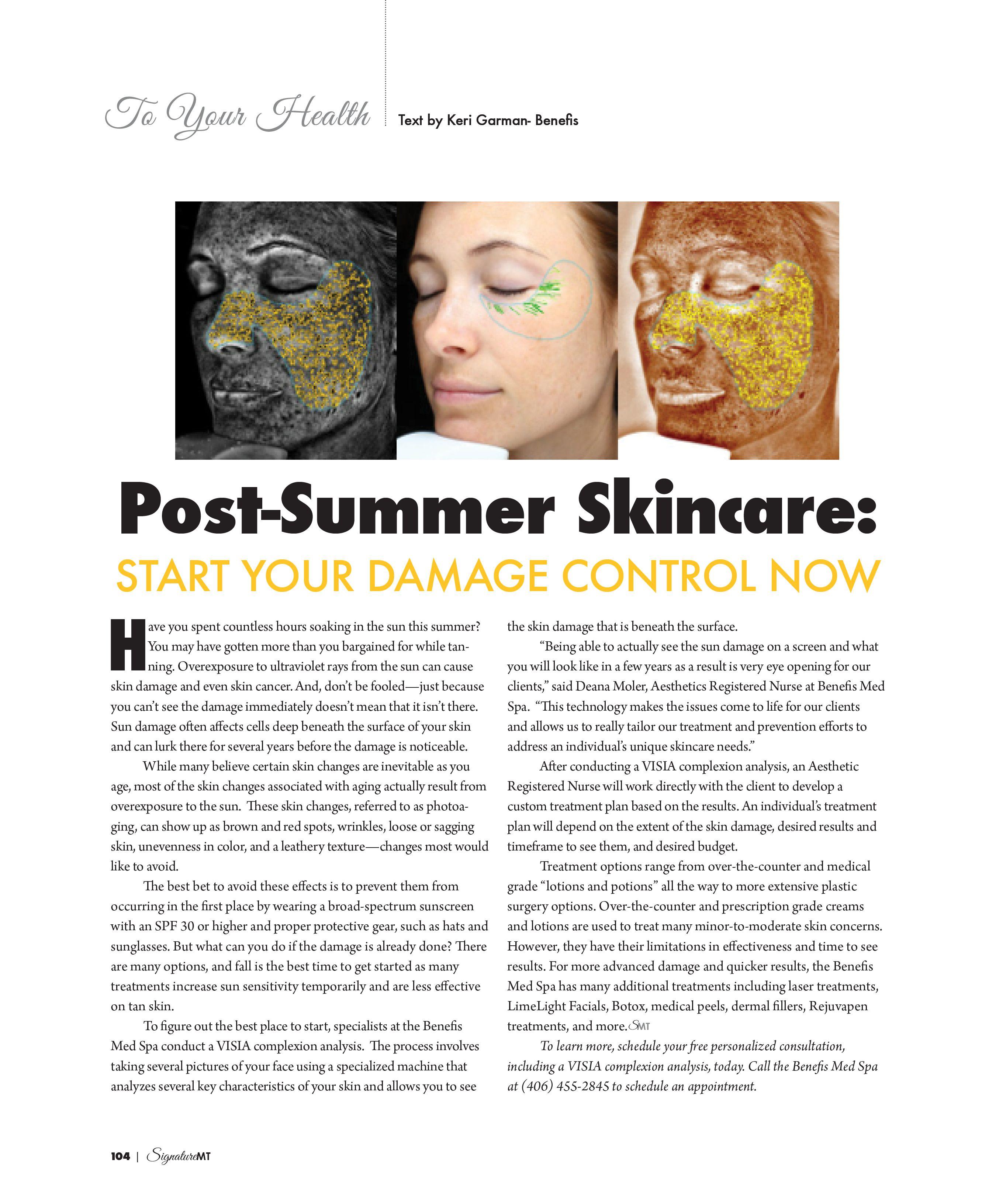 Post-Summer Skincare