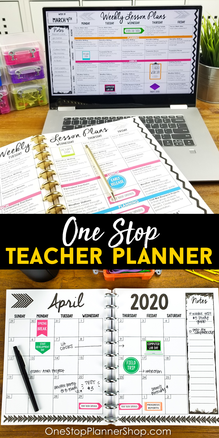Join the One Stop Teacher Planner Club is part of Teacher lesson planner, Teacher planner, Lesson planner, Teaching elementary, Teacher lessons, Classroom learning - Join the One Stop Teacher Planner Club and start customizing the perfect planner to fit YOUR classroom   Functional  Stylish  Affordable   with updated planners every single year!