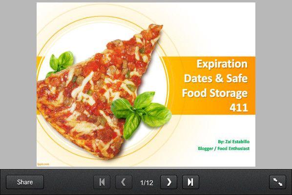 Expiration Dates Safe Food Storage 411 Slidesnack Visit Http