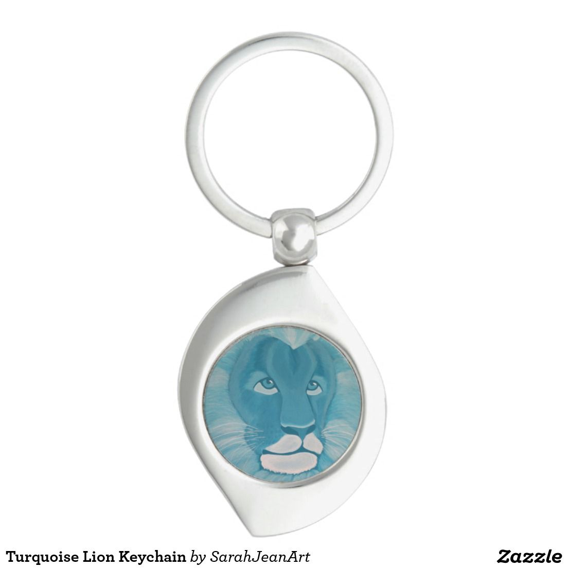 Turquoise Lion Keychain