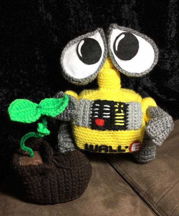Crochet Wall-e amigurumi doll by rosietoesiez on Etsy