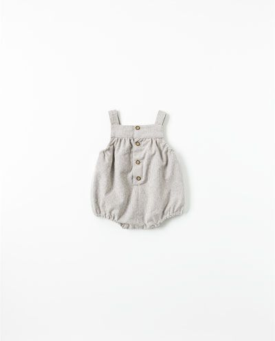 311b4a587c8 Striped romper suit from Zara