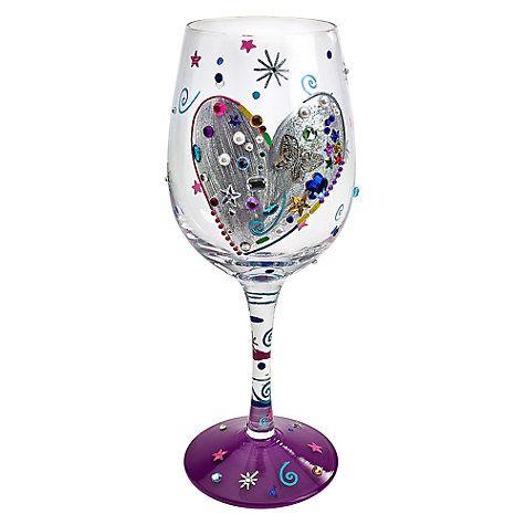 73e0df63e95 Buy Lolita Silver Lining Wine Glass Online at johnlewis.com