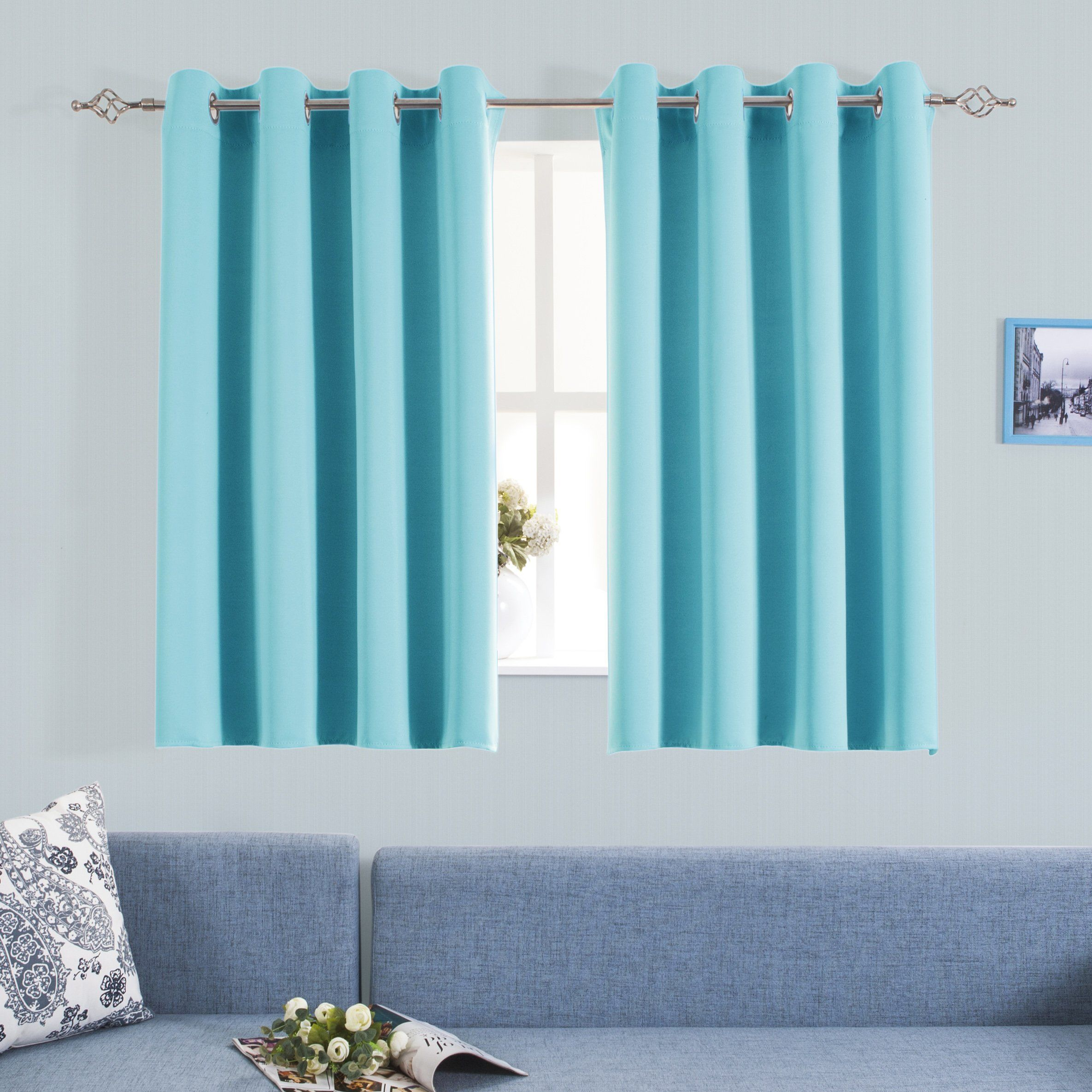 Grommet Blackout Curtains For Kids Room Aquazolax Elegant Blackout Thermal
