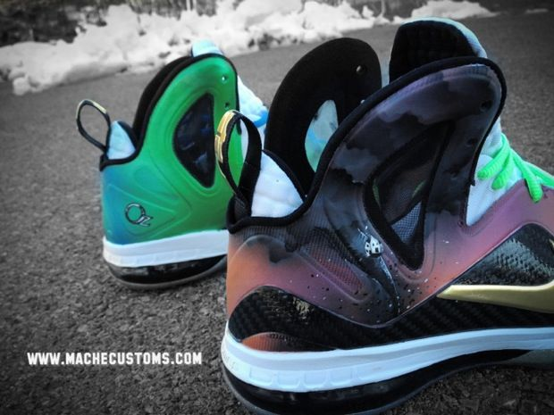 the latest 2a269 07f3f Nike LeBron 9 P.S. Elite Oz Custom... Mache does it again