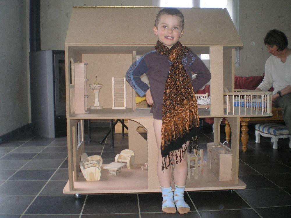 Plans et explications pour fabrication de maisons de poup es barbie photos maison poup es - Plan de maison de barbie ...