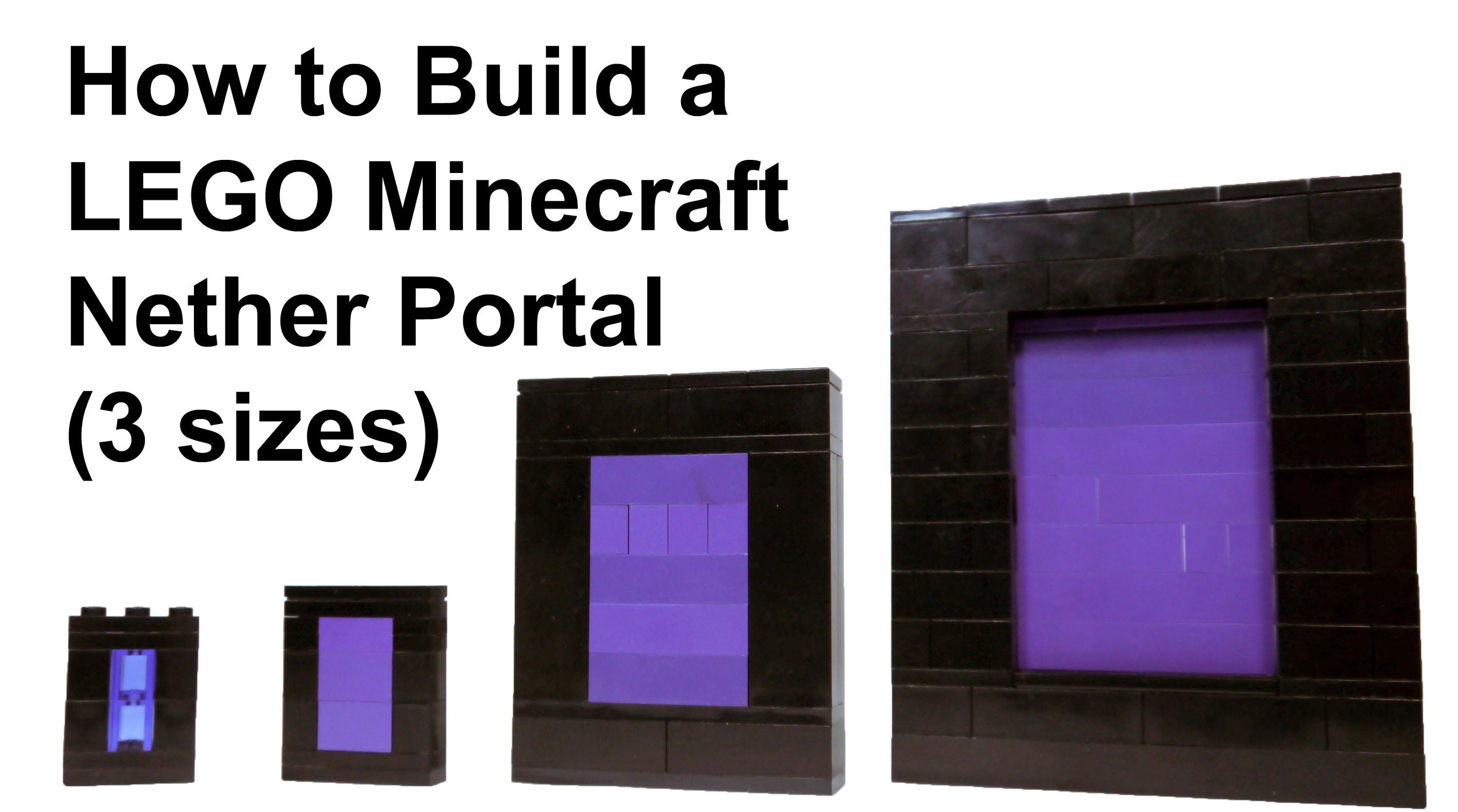 How To Build Lego Minecraft Nether Portal How To Build Lego