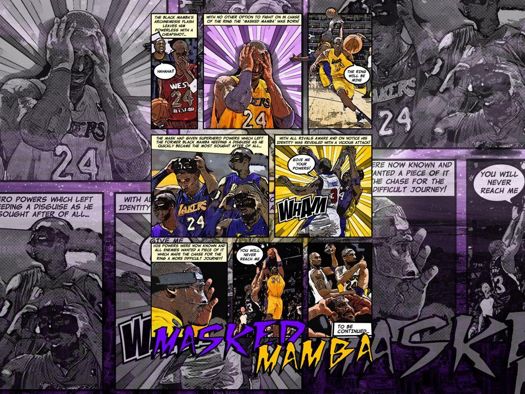 Kobe Bryant The Masked Mamba Wallpaper Kobe Black Mamba