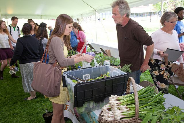 Students get up close and personal with local food sources during the 2nd Annual Farmers' Market Teach-In