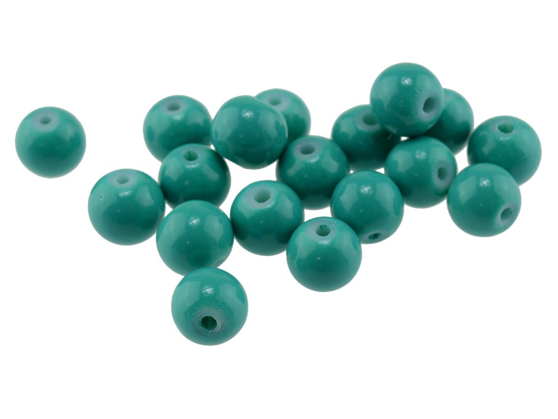 40 crackle Glasperlen Farbmix