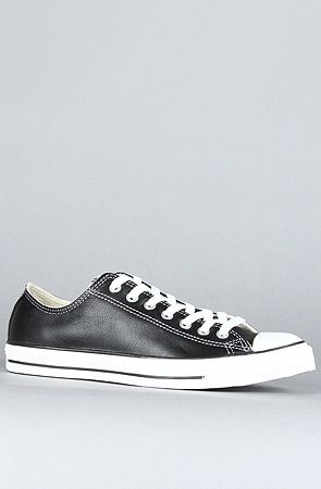 The Chuck Taylor All Star Specialty Leather Ox Sneaker in Black by Converse  use rep code  OLIVE for 20% off! e2b38b27c