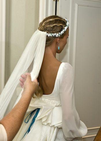 """""""María, un vestido con detalles turquesa""""   Sole Alonso"""