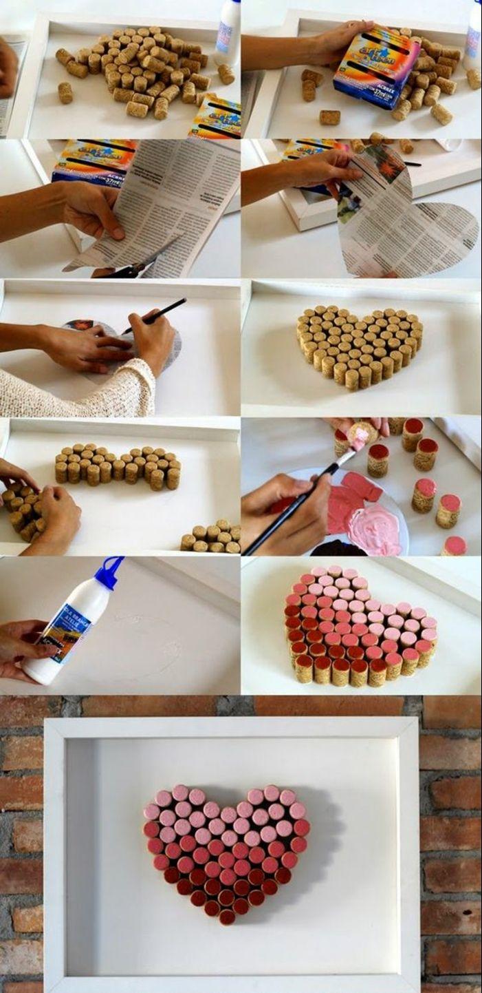 1001+ Ideen Zum Thema Basteln Mit Weinkorken  Wanddeko