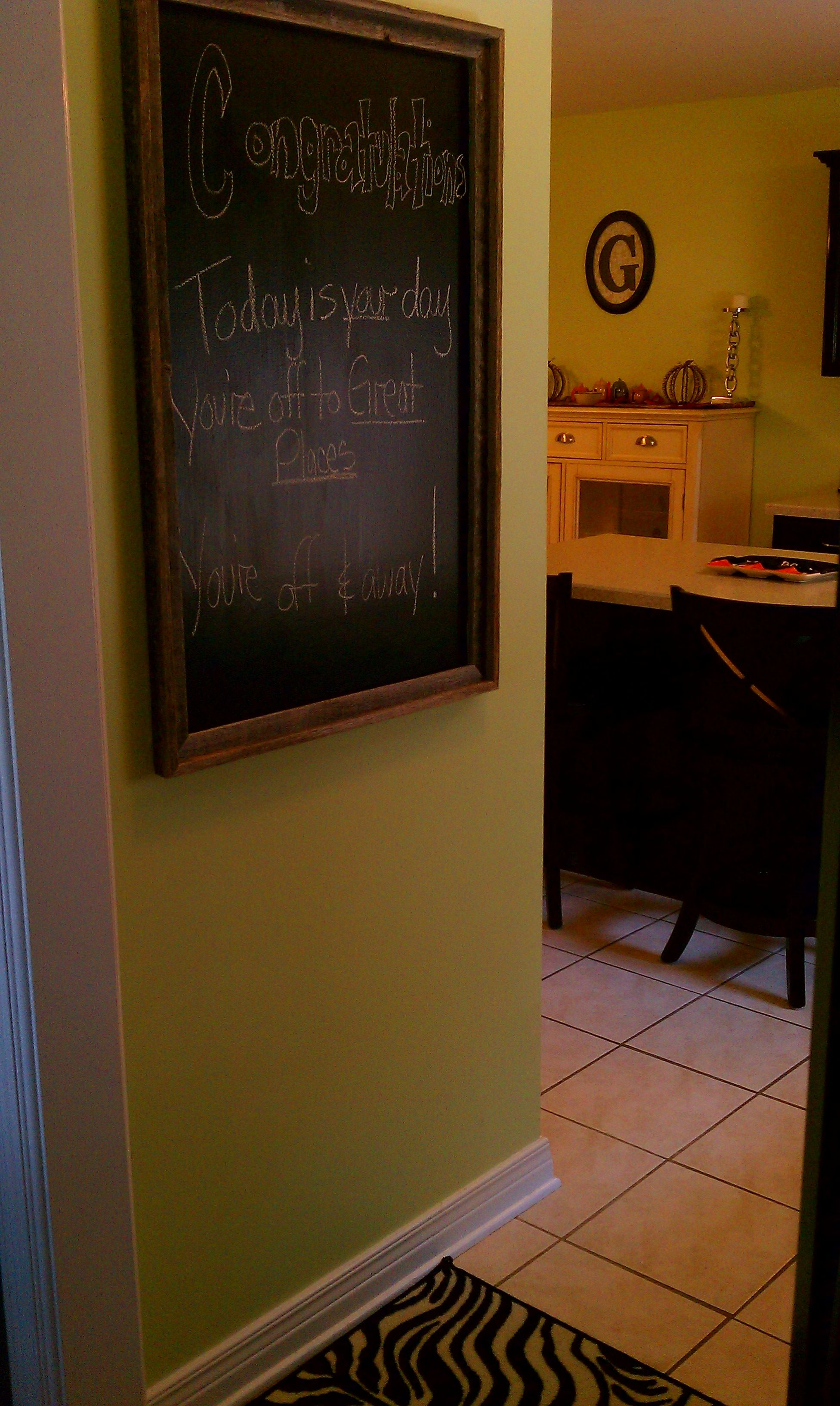 Chalkboard Paint A Wood Frame From Hobby Lobby Chalkboard Crafts Wood Frame Chalkboard Paint