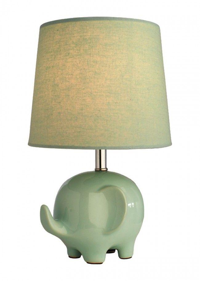 Ellie Elephant Table Lamp Mint Green